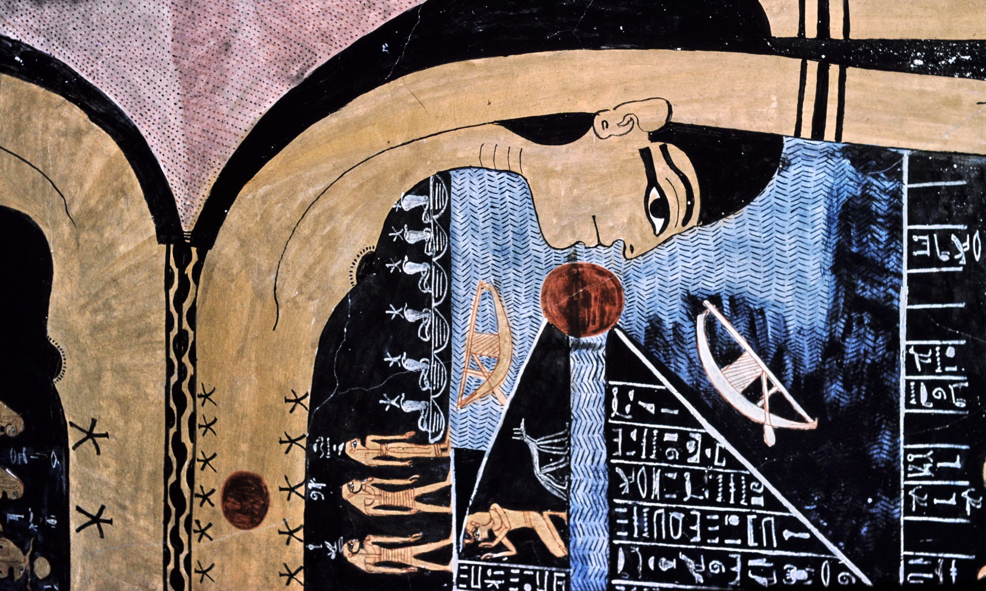 Photograph of Nut in the tomb of Ramses VI by Hans Bernhard